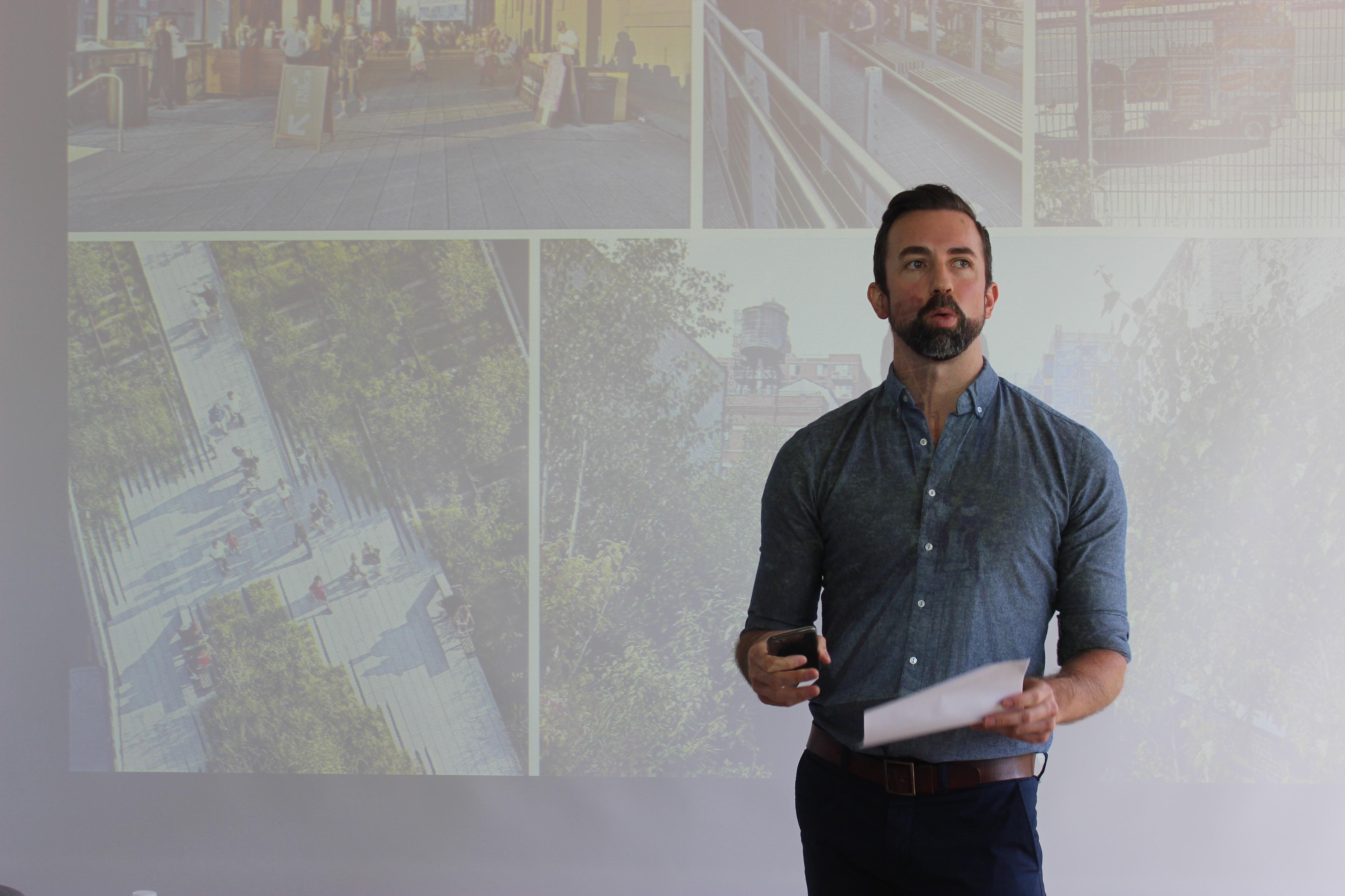 Ben Kerrick of KK&P introduces the charrette activity