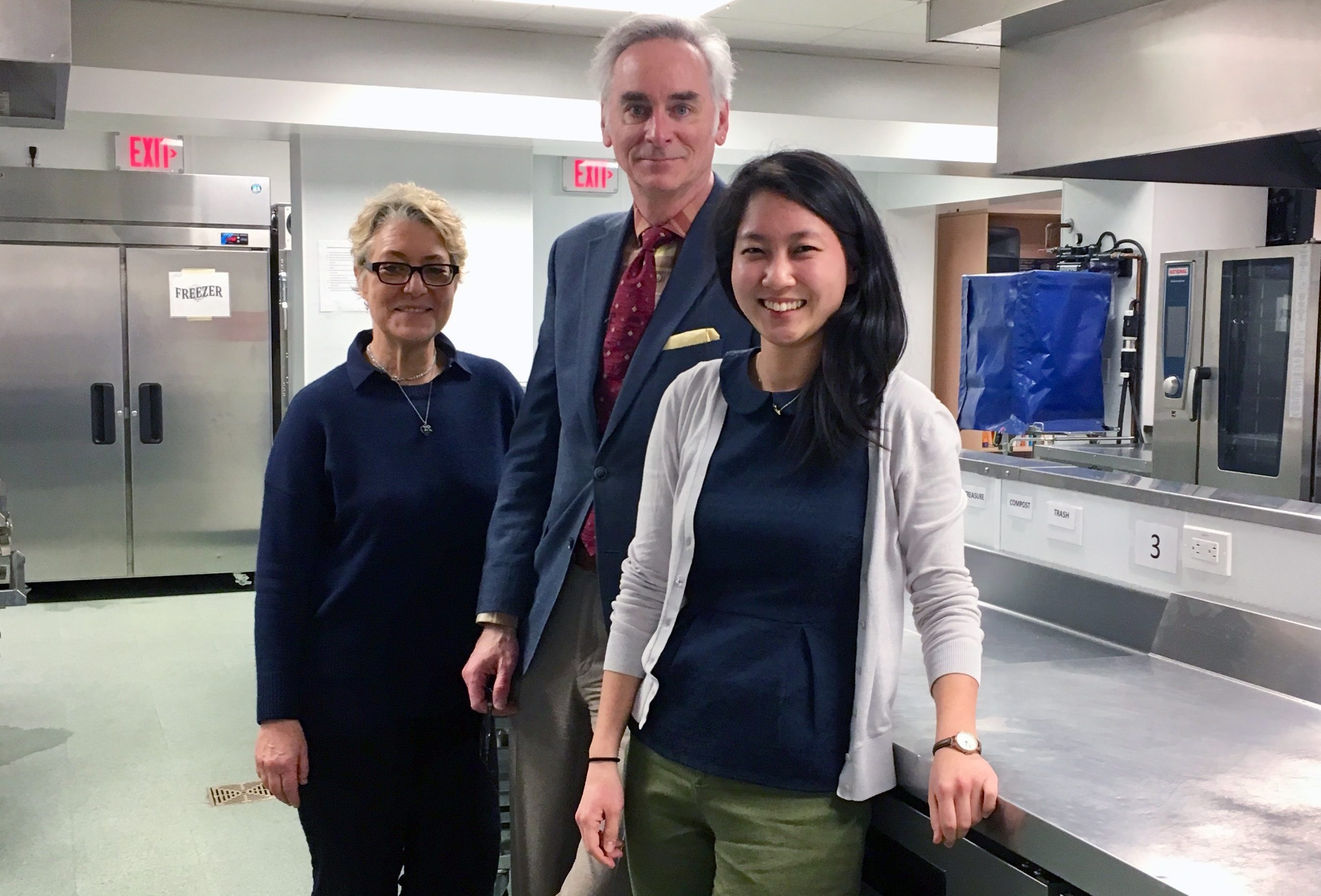 Karen Karp, President of KK&P, Executive Director and the Associate Dean for Clinical Services, Dr. Timothy Harlan, and consultant intern Amy Gu, a current MBA student at New York University's Stern School of Business, the Goldring Center